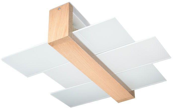 Elegancki plafon E777-Feniko - naturalne drewno
