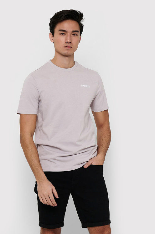 ONLY & SONS T-Shirt Adam 22019288 Beżowy Regular Fit