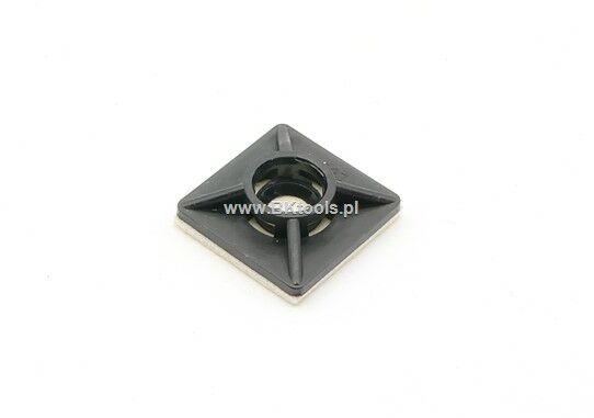 Element mocujący do opasek MB 12 x 12 mm czarny 100 szt