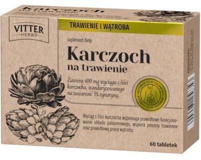 Vitter Herbs Karczoch na trawienie 60 tabletek