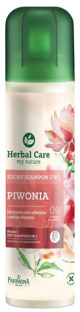 Suchy szampon odświeża i nadaje objętość 2 w 1 PIWONIA Herbal Care - 180ml