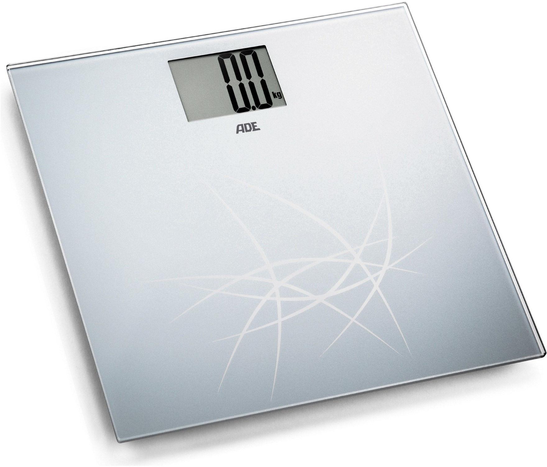 Cyfrowa waga łazienkowa ADE BE1305 Lotta Designerska, szklana, cyfrowa waga łazienkowa ADE BE1305 Lotta