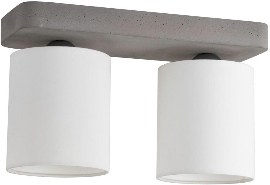Spot Light 2321236 Gentle plafon lampa sufitowa beton szary abażury tkanina biały 2xE27 25W IP20 35cm