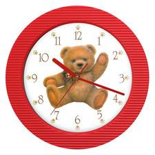 Zegar ścienny kolor siedzący miś