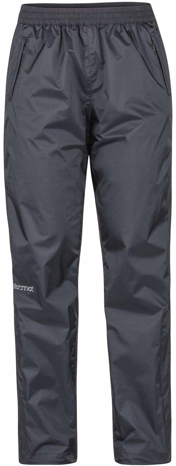 Marmot damskie Wm''s PreCip ekologiczne spodnie hardshell przeciwdeszczowe, lekkie odzież przeciwdeszczowa, wiatroszczelne, wodoodporne, oddychające, czarne, L