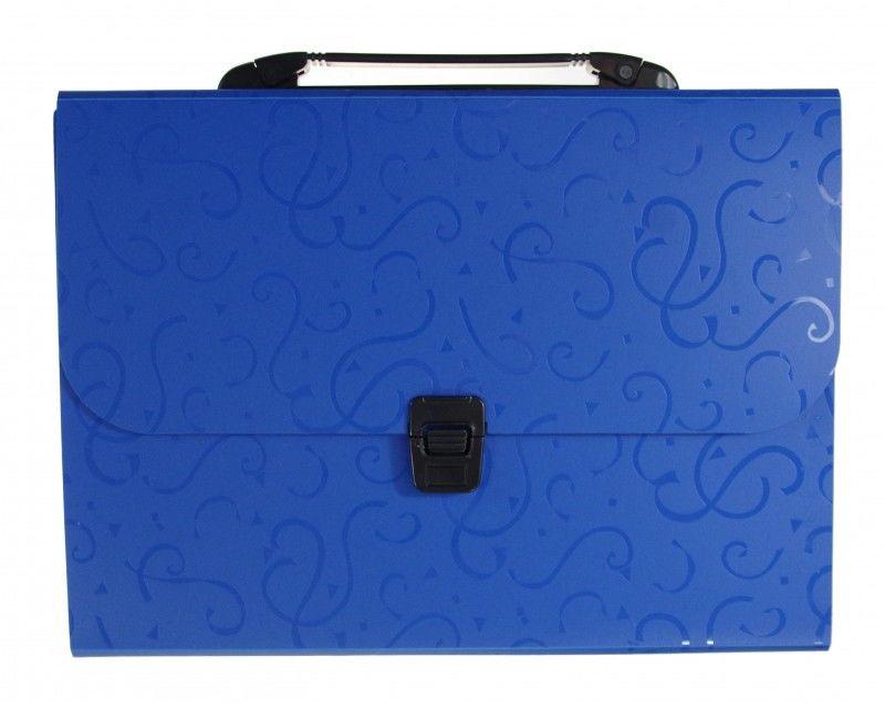 Teczka z rączką 12 przegródek A4 wzorek Titanum 6505-TECZKA-PP-WZOREK 6505-TECZKA-PP-WZOREK, Kolor: Niebieska