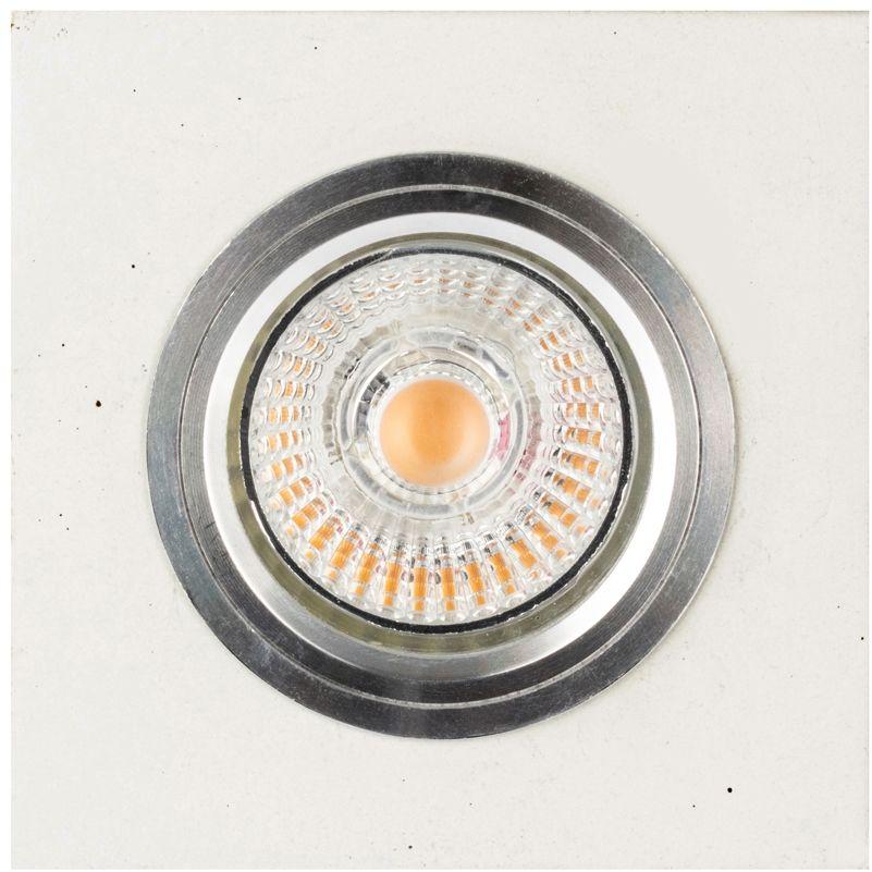 Spot Light 2515137 Vitar Square Lampa Sufitowa oczko 1xGU10 Led 6 W Beton Biały 9,5cm