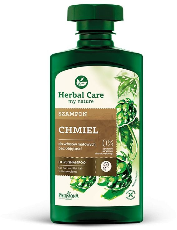 Szampon do włosów matowych bez objętości Chmiel HERBAL CARE - 330 ml
