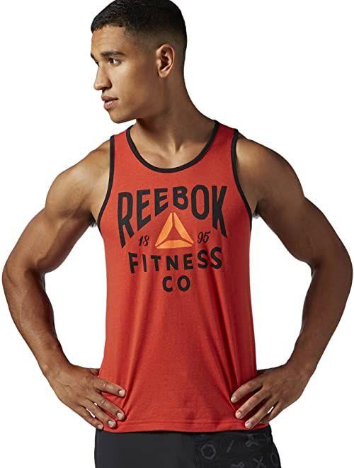 Reebok Fitness Company Graphic Tank koszulka męska bez rękawów, Motor Red, M