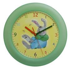 Zegar ścienny królik /zielony