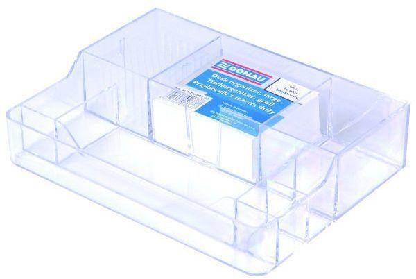 Przybornik na biurko DONAU z jeżem transparentny - X07594