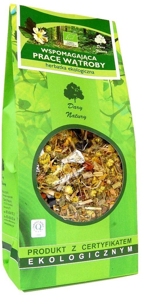 Herbatka wspomagająca pracę wątroby bio 200 g - dary natury