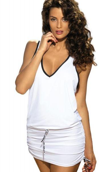 Marko elsa bianco m-313 biała (287) sukienka plażowa