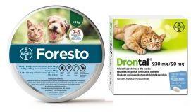 Pakiet Foresto dla Kota i Psa poniżej 8 kg + Bayer Drontal 2 Tabletki