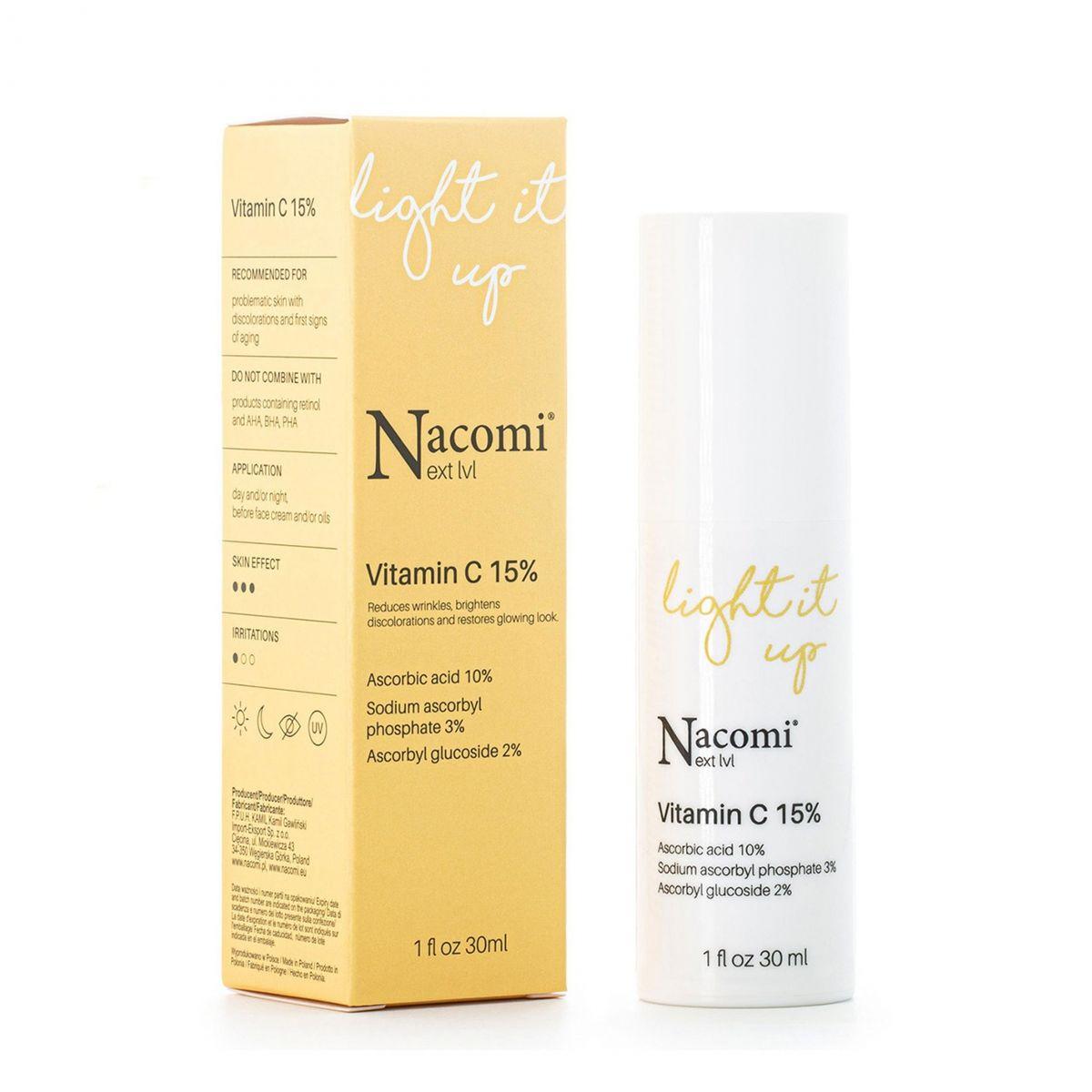 Serum z witaminą C 15% - 30ml - Nacomi
