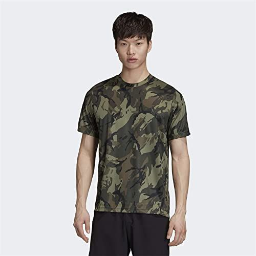 adidas Męska koszulka D2m Aop T-shirt zielony Leggrn/Black S