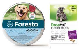 Pakiet Foresto dla Psa powyżej 8 kg + Bayer Drontal Dog Flavour 2 Tabletki