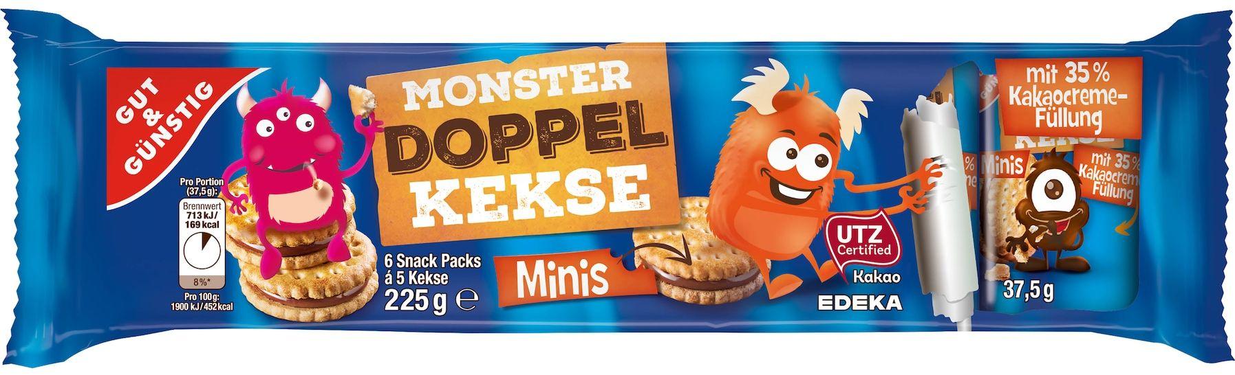 GUT&GÜNSTIG Monster Doppelkekse Minis 225g