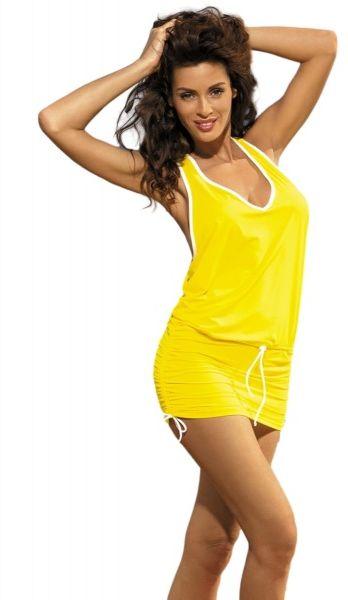 Marko elsa limon m-313 żółta (287) sukienka plażowa
