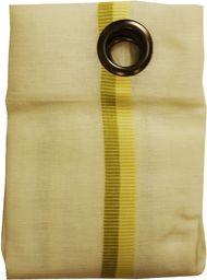 Linder 1165/80/375 zasłona z 8 oczkami i designerską stalą do ostrzenia, okrągła, poliester, len, żółty/zielony, 145 x 260 cm, zielone jabłuszko