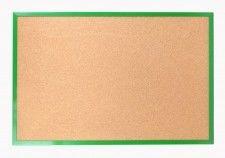 Tablica korkowa 120x90 cm rama drewniana lakierowana ZIELONA