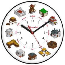 Zegar ścienny obrazki /budynki I