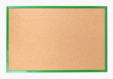 Tablica korkowa 90x60 cm rama drewniana lakierowana ZIELONA