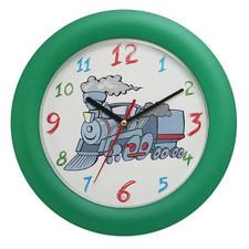 Zegar ścienny kolorowy lokomotywa