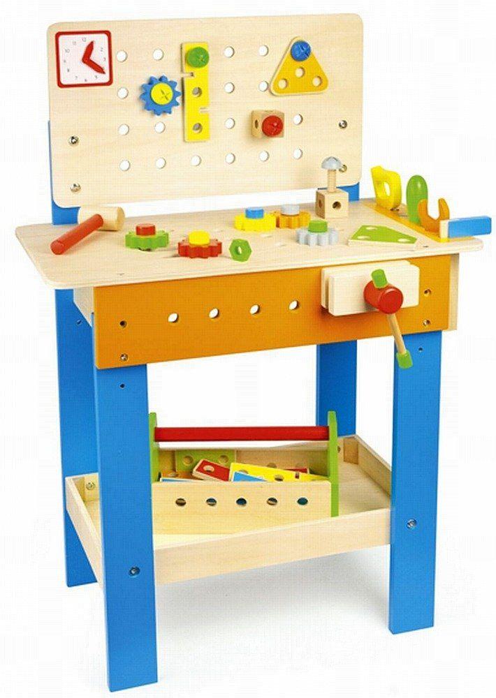 Drewniany warsztat z narzędziami dla dzieci, Czas na naprawę, zabawki dla chłopców