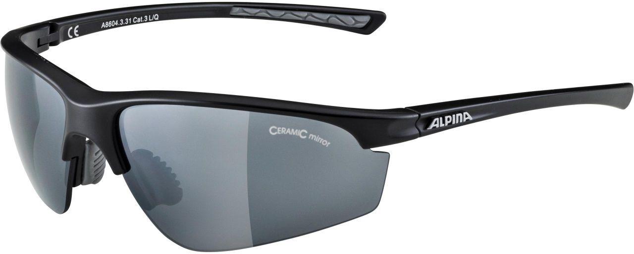 ALPINA okulary sportowe 3 wymienne soczewki TRI-EFFECT 2.0 BLACK MATT BLK MIRR S3/CLEAR S0/ORANGE MIRR S2 A8604331,4003692252265
