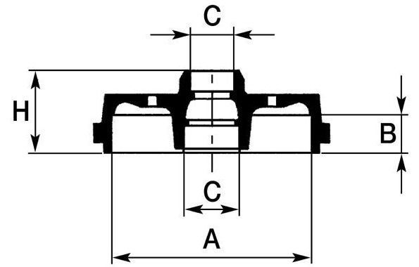 bębny hamulcowe LPR - kpl. 8'' (+ABS)
