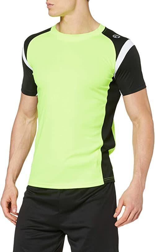 Rogelli męski top z krótkim rękawem Dutton, Fluor-Yellow/Black/White, XXXL