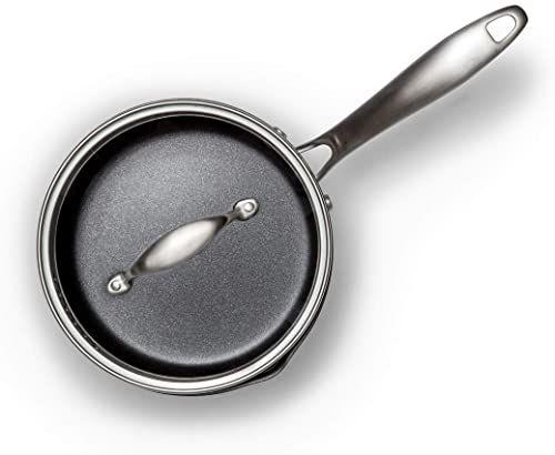 Wilfa EGO Produre garnek do gotowania  1,5 litra, ceramiczna powłoka nieprzywierająca, do wszystkich rodzajów kuchenek łącznie z indukcją, stal szlachetna