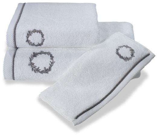 Ręcznik SEHZADE 50x100cm Biały / srebrny haft