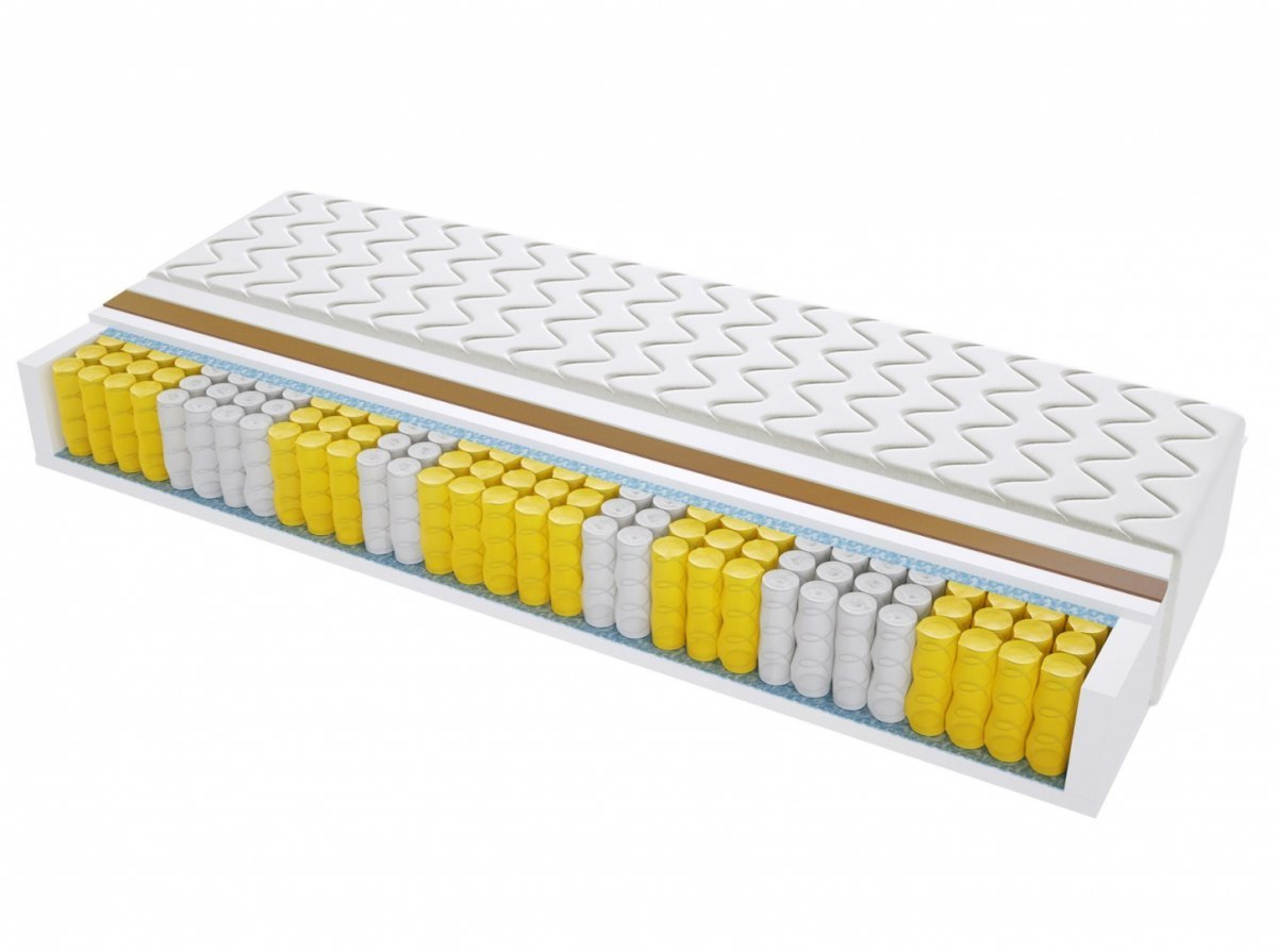 Materac kieszeniowy VIGO MAX PLUS 90x190 cm Średnio / Bardzo twardy 2x Kokos