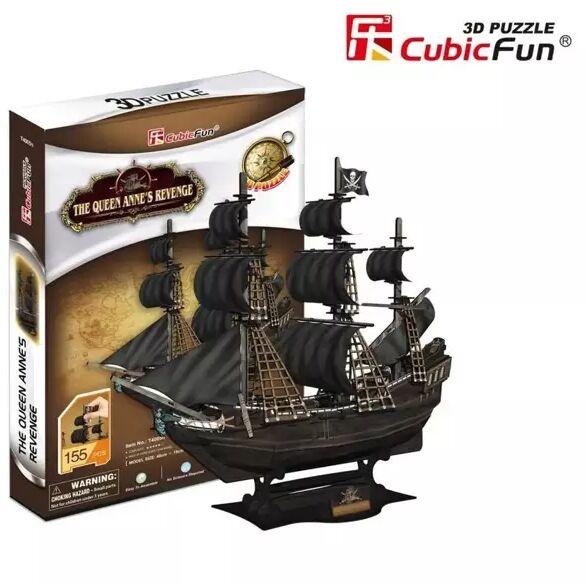 Puzzle 3D Okręt piracki Zemsta Królowej Anny - Dante