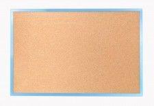 Tablica korkowa 90x60 cm rama drewniana lakierowana NIEBIESKA