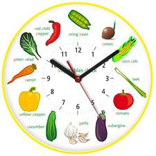 Zegar ścienny obrazki /warzywa II