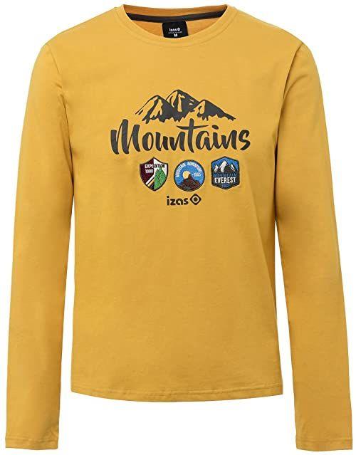 Isa''S Męska koszulka Devi Outdoor L/S, złoty miodowy/ciemnoszary, średni