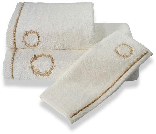 Ręcznik SEHZADE 50x100cm Śmietankowy / złoty haft