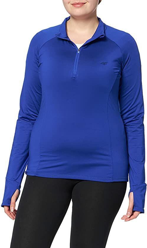 4F Damska bielizna narciarska koszulka z długim rękawem bielizna funkcyjna mikropolar niebieski (XL)