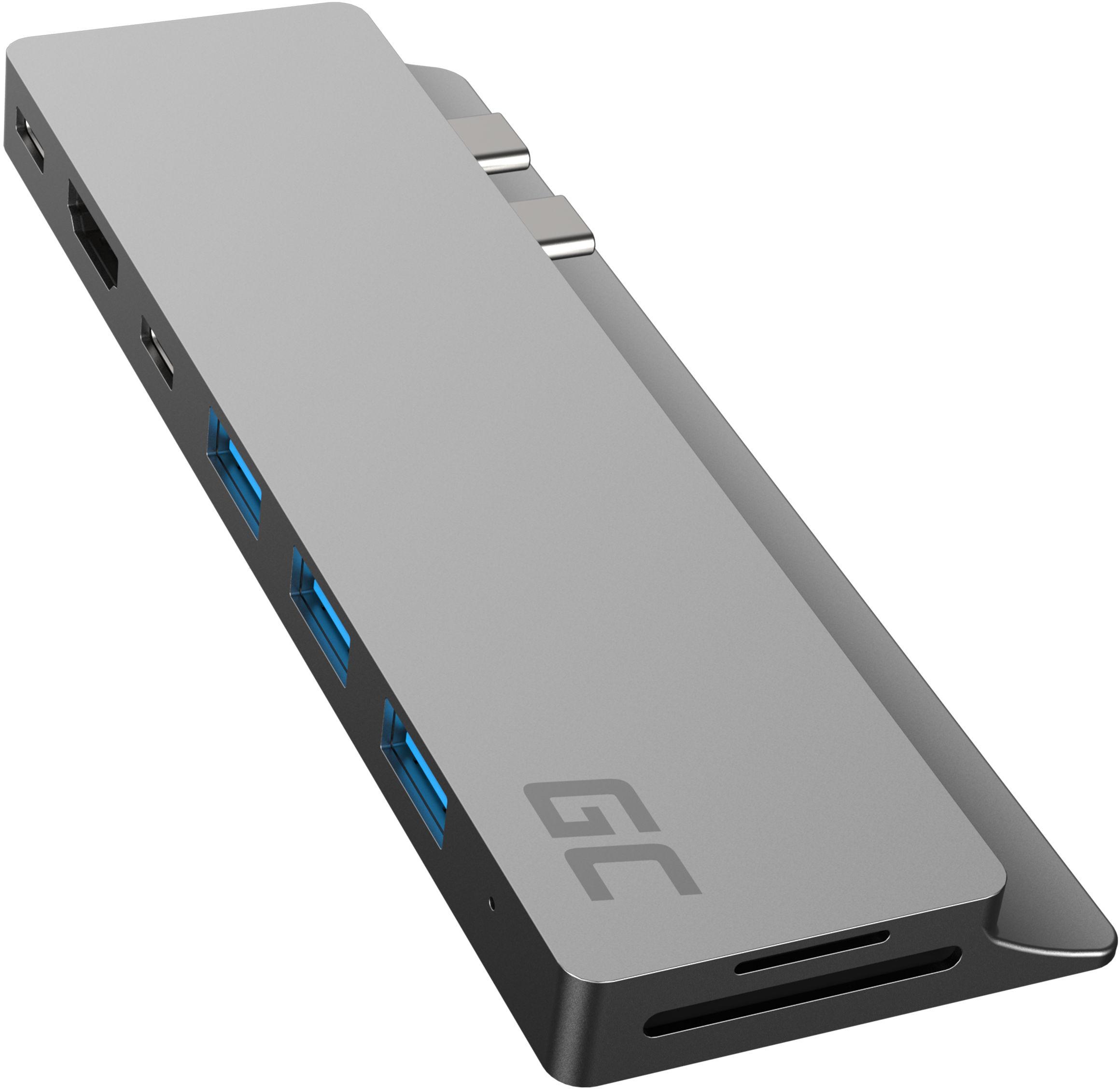 Adapter HUB Green Cell GC Connect60 8w1 (Thunderbolt 3, USB-C, HDMI, 3x USB 3.0, SD, microSD) do MacBook Pro 13 /15  2016 - 2020