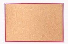 Tablica korkowa 90x60 cm rama drewniana lakierowana CZERWONA