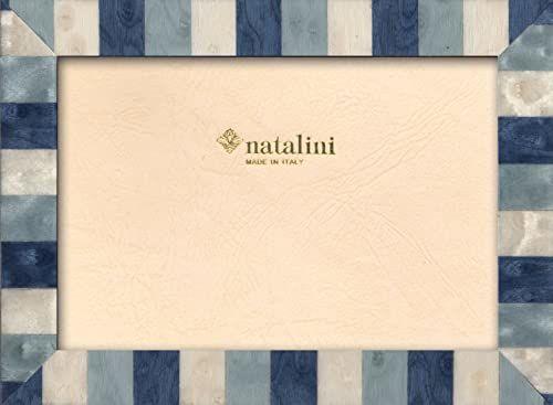 Natalini Marquetry ramka na zdjęcia wykonana we Włoszech, tulipan, niebieska, 10 cm x 15 cm