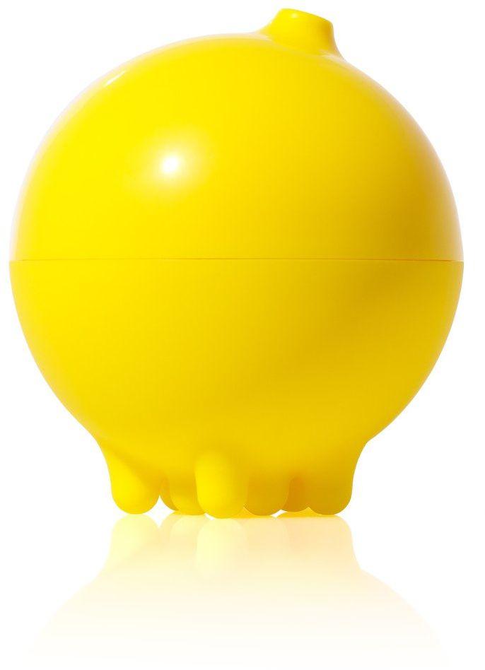 MOLUK 43020 Plui piłka przeciwdeszczowa, zabawka do wanny, zabawka wodna, innowacyjna zabawka edukacyjna dla dzieci od 2 lat, żółta