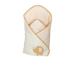 MAMO-TATO Rożek niemowlęcy haftowany Słonik biszkoptowy