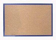 Tablica korkowa 90x60 cm rama drewniana lakierowana GRANATOWA