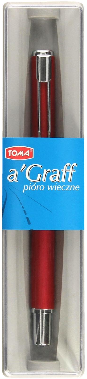 Pióro wieczne czerwone AGraff TOMA 825