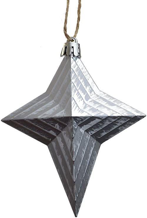 HEITMANN DECO choinka  biżuteria  gwiazda  zawieszka  zestaw 4 szt.  dekoracja  biała  ok. 10 x 10 x 3 cm
