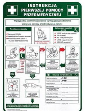 Znak Instrukcja Pierwszej Pomocy Z-IB13-P 250x350